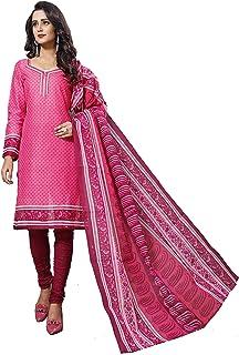 1b4bcc5361 Minu Suits Salwar Suits Sets Cotton Pink Unstitched Free (Dangal_4009_0)