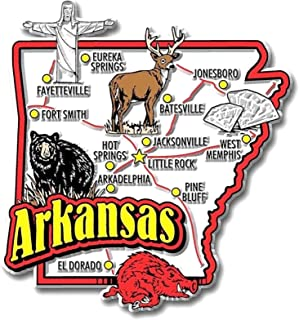 Arkansas Jumbo State Map Fridge Magnet