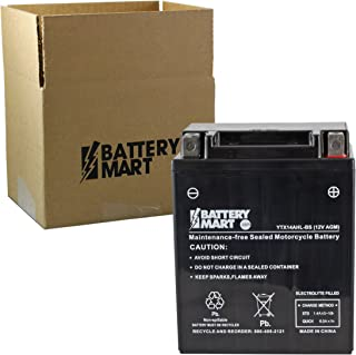 YTX14AHL-BS AGM Maintenance Free Battery Replaces: YB14L-B2, YS12-12A-4A1, YTX-14AHB-S0-00, YTX14AHL-BS, YUAM62H4L, and MORE! …