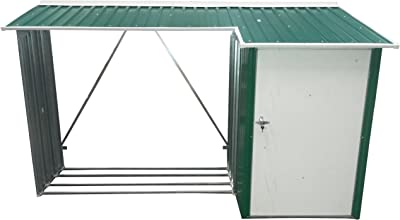 Duramax WoodStore Combo Shed, Green with Off White Trim