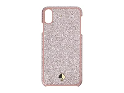 Kate Spade New York Glitter Inlay Phone Case for iPhone XS Max (Rose Gold) Cell Phone Case