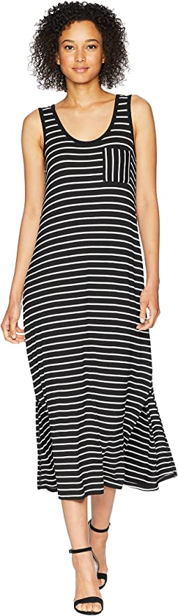 Sleeveless Stripe Maxi w/ Pocket