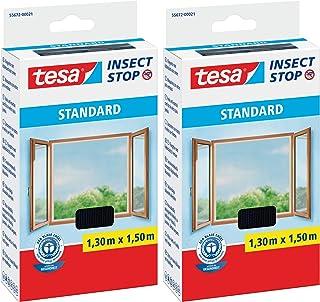 tesa® Insect Stop Standaard vliegengaas voor ramen, insectenbescherming, op maat te snijden, muggenbescherming zonder bore...