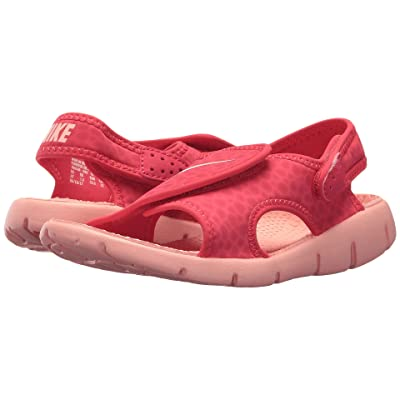 Nike Kids Sunray Adjust 4 (Little Kid/Big Kid) (Tropical Pink/Bleached Coral) Girls Shoes
