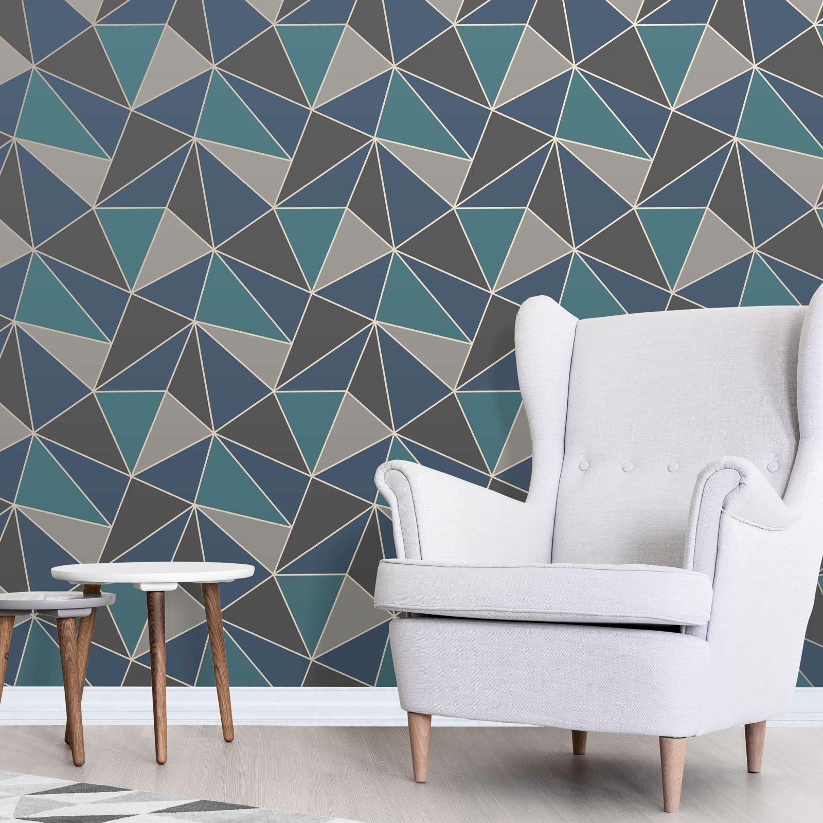Amazon UK & Teal Wallpaper for Living Room: Amazon.co.uk