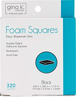 Gina K. Designs for Therm O Web 3D Foam Squares Black 320 Squares
