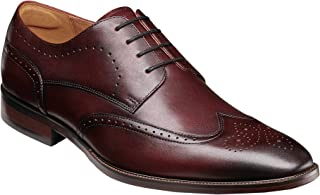 فلورشايم Sorrento Wing Tip Oxford Burgundy Smooth 7 M (D)