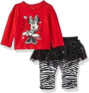 Baby-Girls Newborn Minnie Mouse 2 Piece Zebra Print Skegging Set