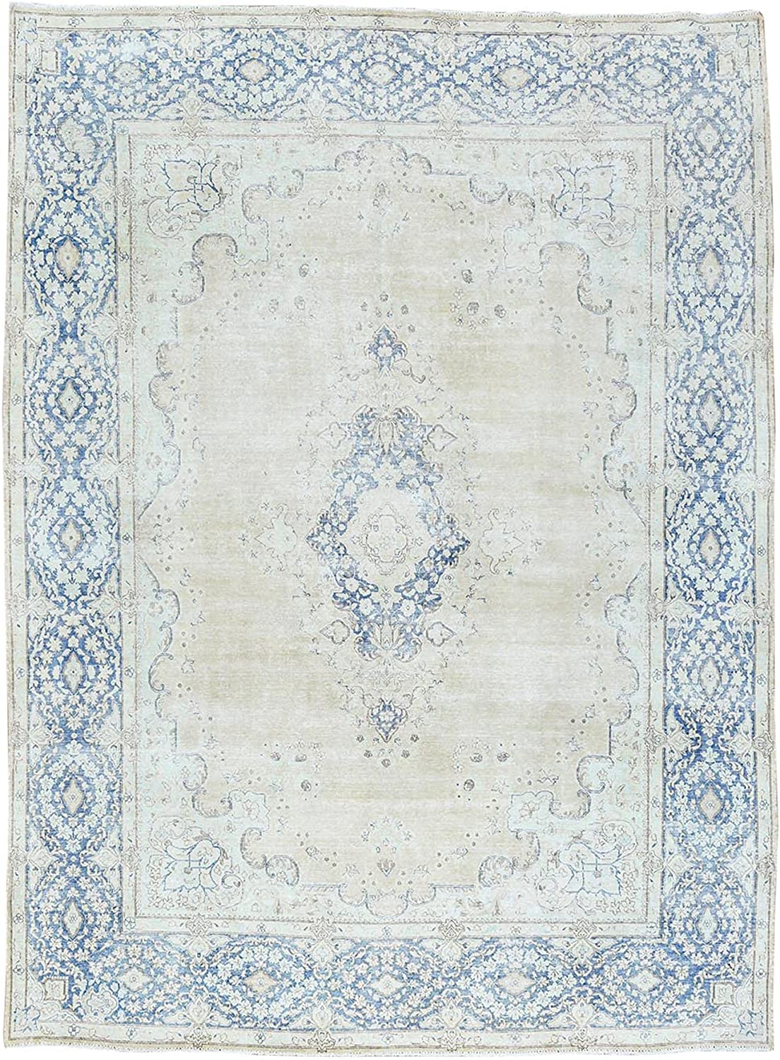 Shahbanu Rugs Phoenix Mall Worn Down Natural Wool New Orleans Mall Fa Ivory Knotted Hand Clean