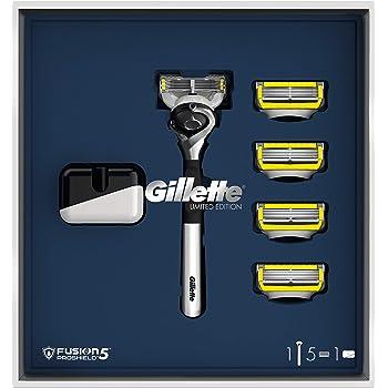 Gillette Fusion5 Proshield Rasoio da Uomo, 1 Manico 5 lamette di Ricarica, Edizione limitata, Idea Regalo S. Valentino