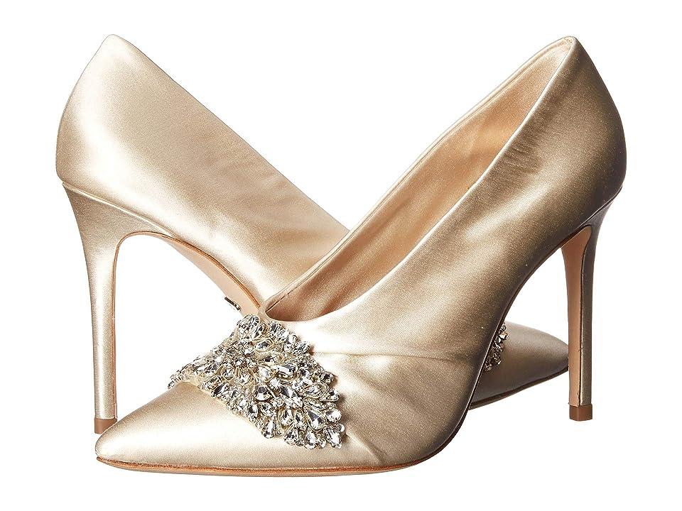 Badgley Mischka Vanilla (Ivory Satin) High Heels