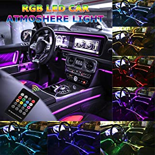 Car LED Strip Light - Music RGB Neon Accent Lights - 5 in 1 with 6 Meters/236.22 inches, Interior Decor Atmosphere Strip Lamp, Sound induction Active Remote Control Rhythm Light