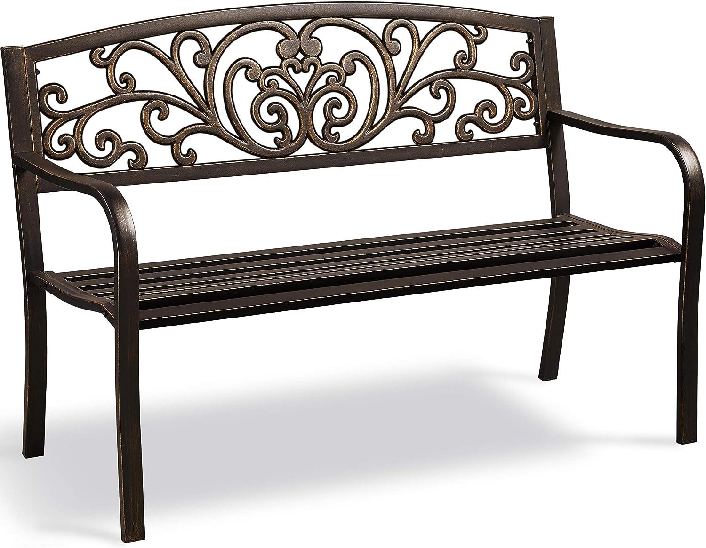 YAHEETECH Patio Garden 2021 new Bench Porch Outdoor for Fu Inexpensive