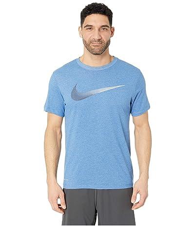 Nike Dry Tee Dri-FITtm Cotton 2 Year Swoosh (Light Game Royal Heather/Obsidian) Men