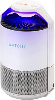 KATCHY Indoor Insect Trap: Bug, Fruit Fly, Gnat, Mosquito Killer - UV Light, Fan, Sticky Glue Boards Trap Even The Tiniest Flying Bugs - No Zapper - (White)
