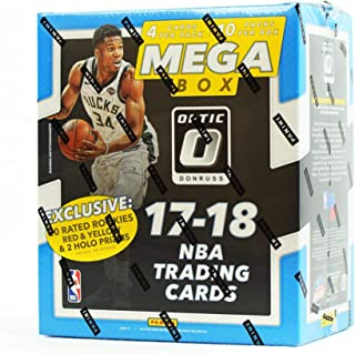 2017/18 Panini Donruss OPTIC NBA Basketball HUGE EXCLUSIVE Factory Sealed MEGA Box with (20) RATED ROOKIE PARALLEL & 2 HOLO PRIZMS! Look for RC & AUTOS of Donovan Mitchell,Jayson Tatum