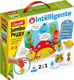 Quercetti-Quercetti-2270 Jumbo Peggy-Jouets d'activité et de développement, Mosaïques, 2270