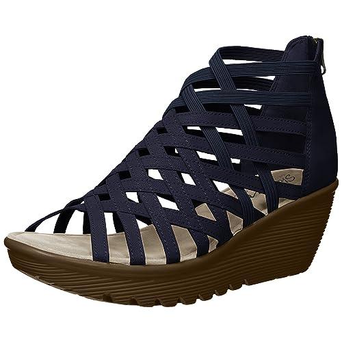 af11e6a5c0f2b Blue Navy Wedge Sandals: Amazon.com