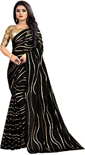 Hiral Designer Indian Women Multi Color Cotton Paper Silk & Heavy embroidery Work Party Wear Saree With Blouse piece Indian