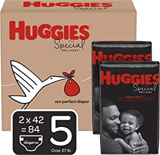 Huggies Special Delivery Hypoallergenic Diapers, Size 5 (27+ lb.), 84 Ct, One Month Supply