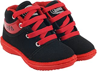 BUNNIES Baby Boy's Red Casual Shoes (1-5 Year Baby Kids)