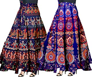 bc7a41620c Trendy Fab Women's Cotton Full Long Skirt (Multicolour, Free Size) -Combo of
