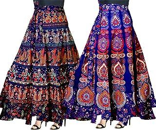 f588674bd9d Trendy Fab Women's Cotton Full Long Skirt (Multicolour, Free Size) -Combo of