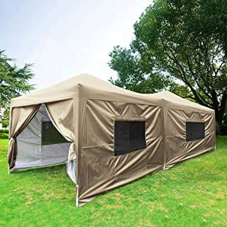 Best party tent sidewalls with windows Reviews