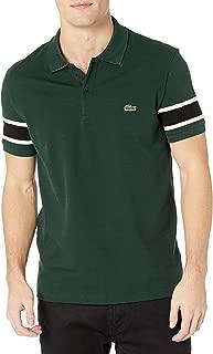 Lacoste Mens Short Sleeve Stretch Pique Semi-Fancy Slim Fit Polo Shirt