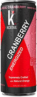 KICKTAIL Energized Cranberry, Drink Mixer, 12 FL OZ Cans (4 Pack)