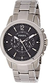Fossil Mens Quartz Watch, Chronograph Display and Stainless Steel Strap FS4532