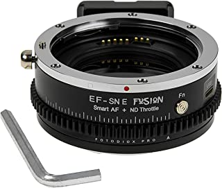Vizelex Fusion CINE ND Throttle Mark II Compatible with Canon EOS EF Lenses on Sony E Mount Cameras   by Fotodiox Pro