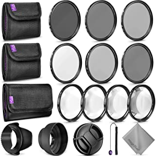 67MM Complete Lens Filter Accessory Kit for Camera Lenses: Includes Altura Photo UV CPL ND4 Filter Kit, Macro Close Up Kit...