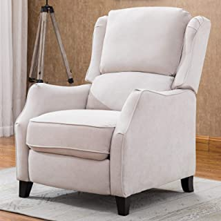 ANJ Recliner Chair Push Back Recliners with Thickness Backrest and Cushion, Cream White
