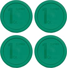 Pyrex 322-PC 1 Quart Green Mixing Bowl Lid - 4 Pack (Mixing Bowl Not Included) Will Not Fit The Pyrex 7201 4 Cup Dish