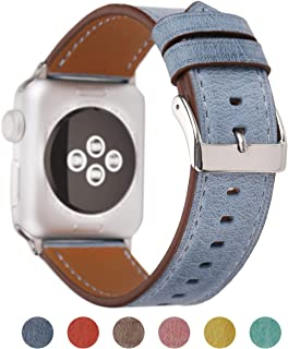 Pantheon Compatible Apple Watch Band 38mm 40mm for Women - Leather Band Compatible iWatch Bands/Strap for Series 4 3 2 1