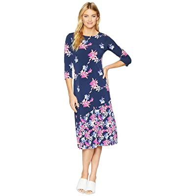 Tommy Bahama Costa Cactus 3/4 Sleeve Midi Dress (Ocean Deep) Women