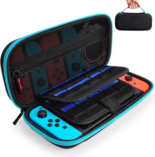 Hestia Goods Case for Nintendo Switch Hard Carry Case with 20 Game Cartridges - Protective Hard Shell Travel Carrying...