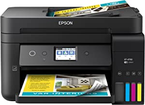Epson Workforce ET-4750 EcoTank Wireless Color All-in-One Supertank Printer with Scanner, Copier, Fax and Ethernet (Renewed)