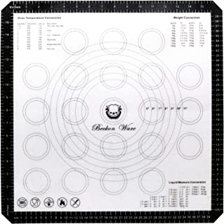 Beckon Ware XL Silicone Baking Mat for Pizza, Pastry, Cookies, Dough Rolling, Fondant, Etc. Black
