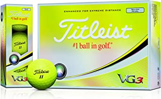 TITLEIST(タイトリスト) ゴルフボール 2018 VG3 3ピース 12個入り イエローパール T3125S