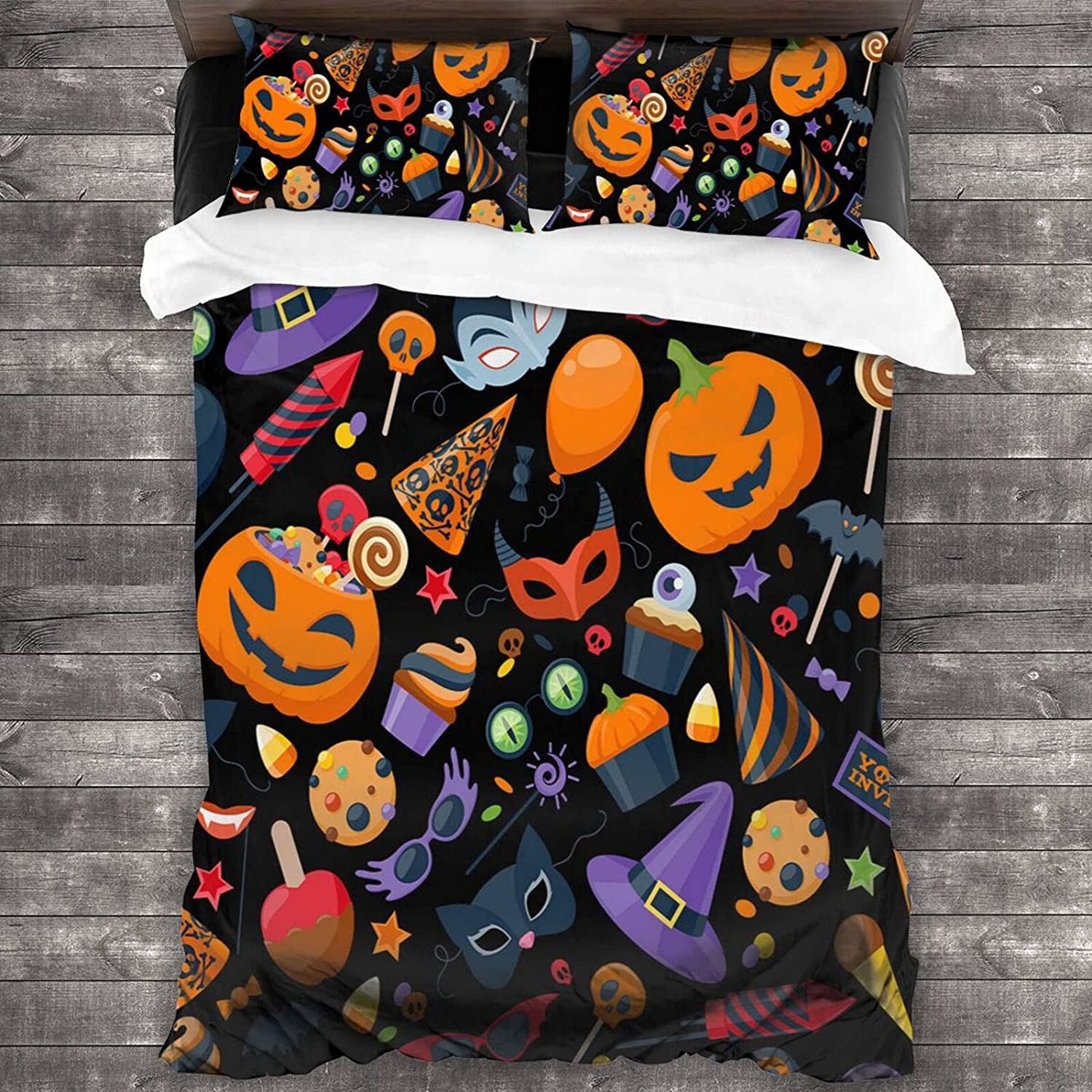 SUPNON Halloween Party Colorful Seamless Pattern Comforter Pcs free shipping 3 OFFicial site