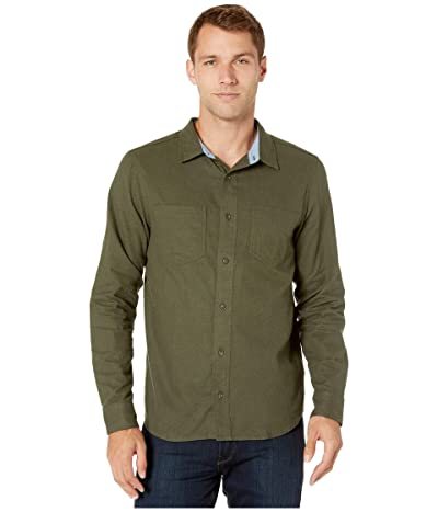 Toad&Co Flannagan Long Sleeve Shirt (Rustic Olive Heather) Men