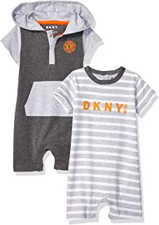 DKNY Baby Boys 2 Pack Jersey Bodysuit Romper