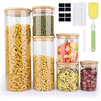 6-Pack Yibaodann Glass Food Storage Jars w/Bamboo Lids Deals