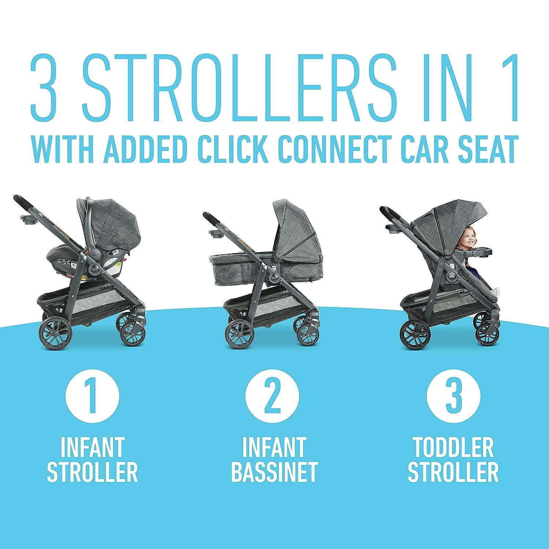 Graco Modes Bassinet Travel System   Includes Modes Bassinet Stroller and SnugRide SnugLock 35 Infant Car Seat, Wynton