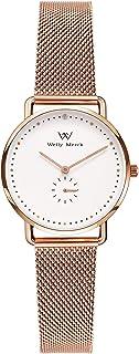 Welly Merck Women's Watch Swiss Quartz Movement Luxury Minimalist Wrist Watch with Interchangeable Strap, Sapphire Crtystal,5 ATM Water Resistant