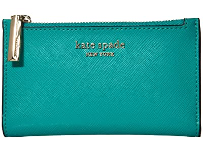 Kate Spade New York Spencer Small Slim Bifold Wallet (Fiji Green) Wallet