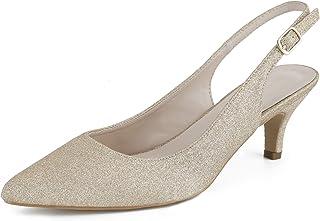 Greatonu Chaussures à Talon Classics Espigones avec des Boucles et des Sangles sur Le Dos pour Les Femmes 36-41 EU