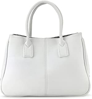 Classical Office Lady Minimalist Pebbled Faux Leather Handbag Tote/Magnetic Snap Purse